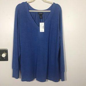 LANE BRYANT Long Sleeve V-Neck Sweater Size 18/20W